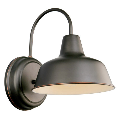 Design House Mason Outdoor Downlight, 8.375inch by 11inch, Oil Rubbed Bronze Finish - 519504