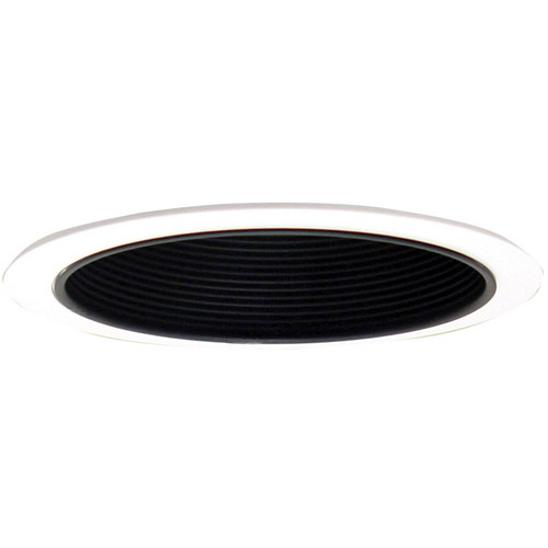 Design House 6inch Recessed Lighting Black Metal Baffle Trim, Black Finish - 519561