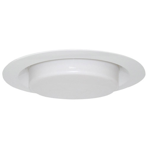 Design House 6inch Recessed Lighting Shower Trim with Drop Lens, White Finish - 519587