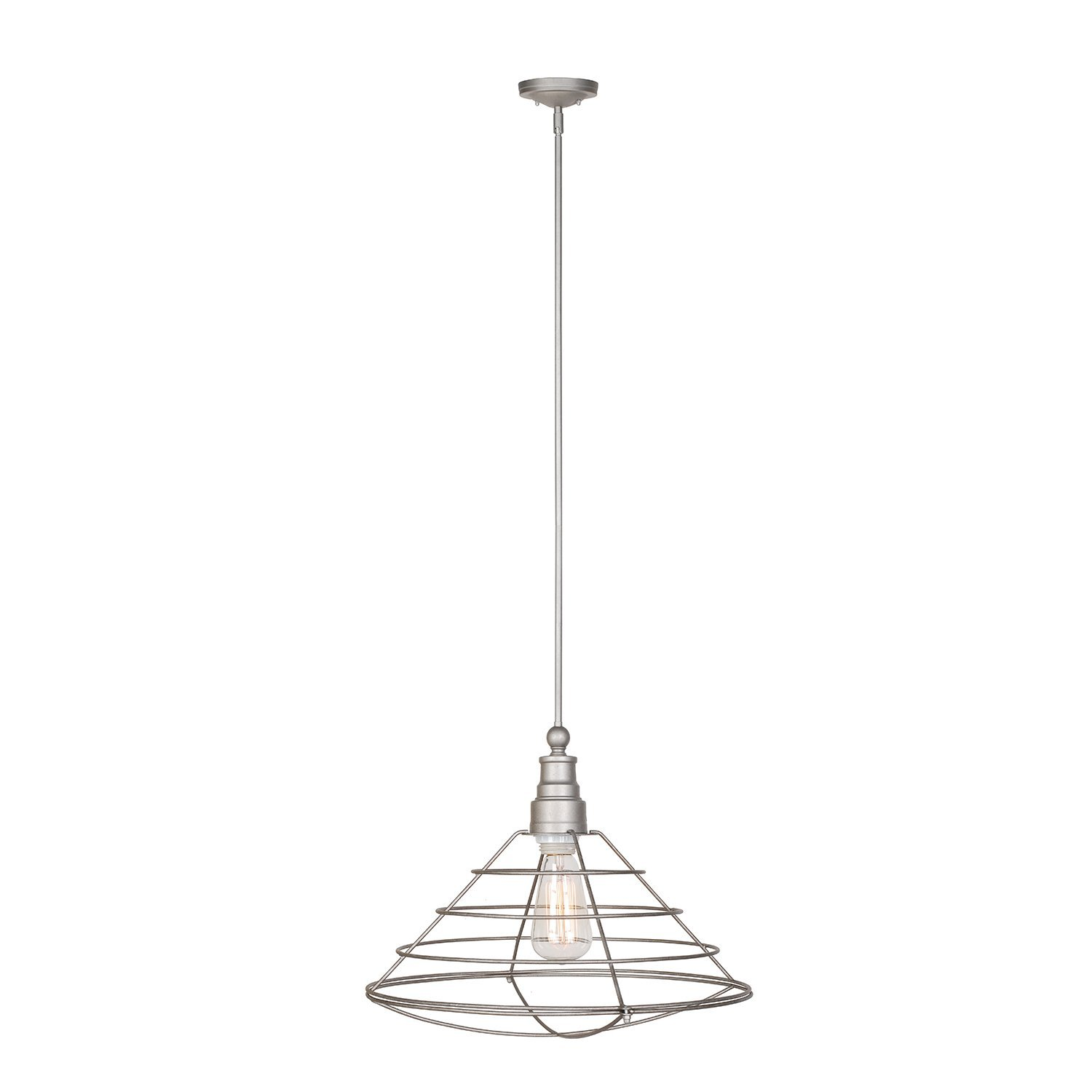 Design House Ajax 1-Light Pendant, Galvanized Finish - 519660