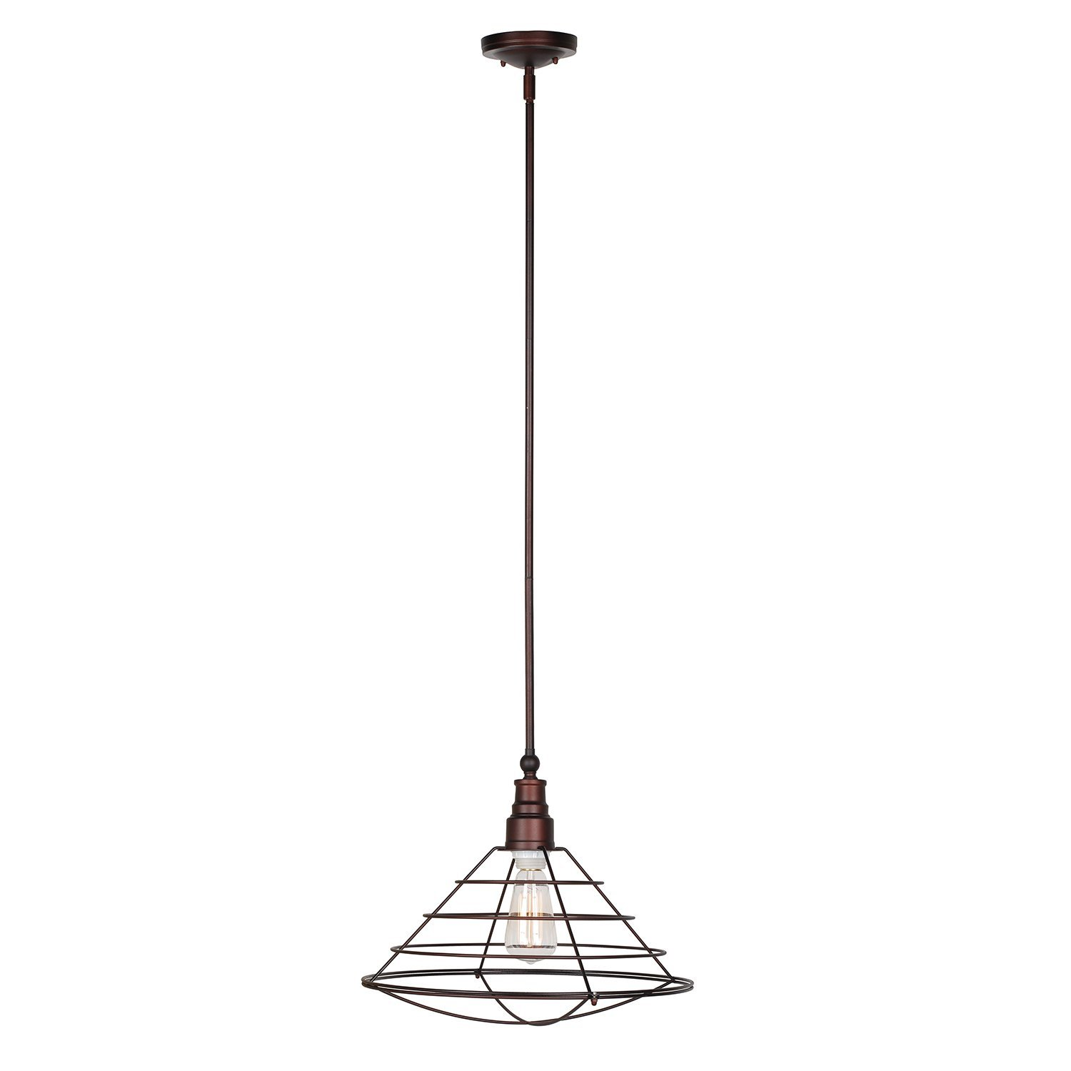 Design House Ajax 1-Light Pendant, Galvanized Finish - 519678
