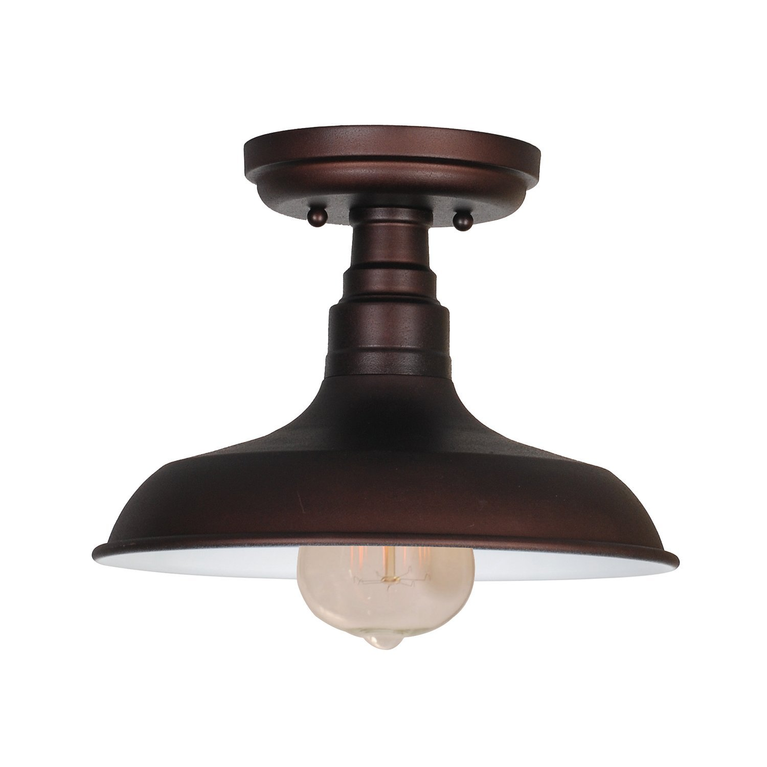 Design House Kimball 1-Light Ceiling Mount Industrial Light, Coffee Bronze Finish - 519884