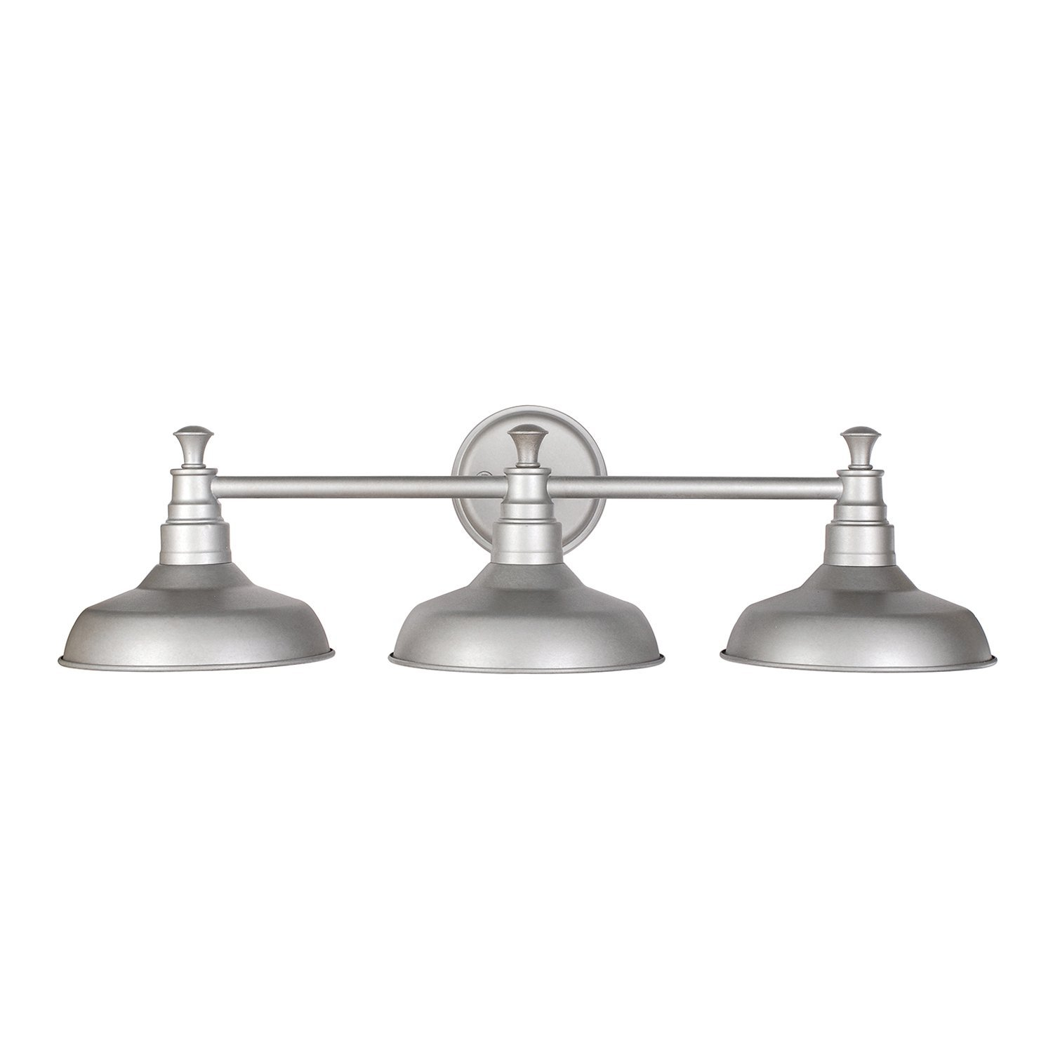 Design House Kimball 3-Light Bathroom Vanity Light, Galvanized Steel Finish - 520312