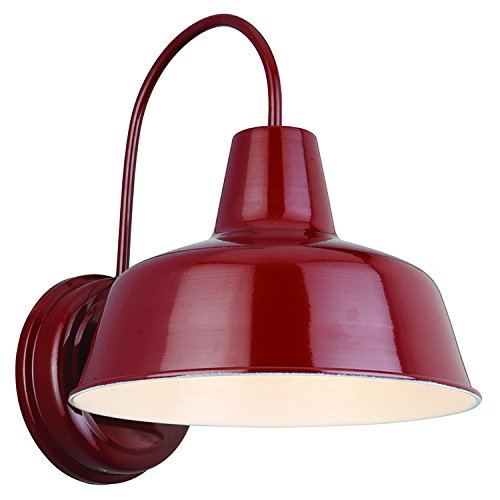 Design House Mason Outdoor Light Wall Mount in Red - 520559