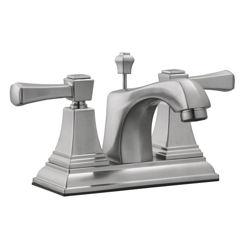 Design House Torino 4inch Lavatory Faucet, Satin Nickel Finish - 521997