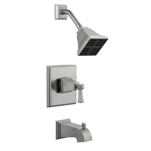 Design House Torino Tub and Shower Faucet, Satin Nickel Finish - 522029