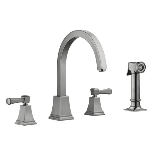 Design House Torino Kitchen Faucet with Sprayer, Satin Nickel Finish - 522110