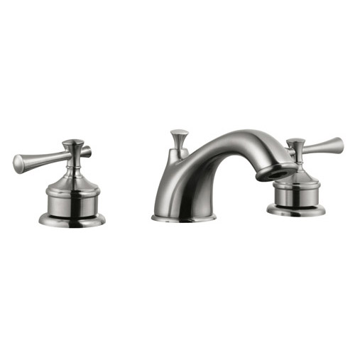 Design House Ironwood Wide Spread Lavatory Faucet, Satin Nickel Finish - 524587