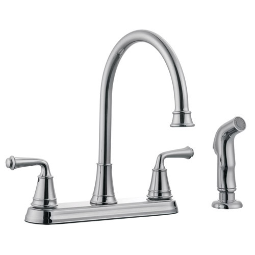 Design House Eden Kitchen Faucet with Sprayer, Polished Chrome Finish - 524710