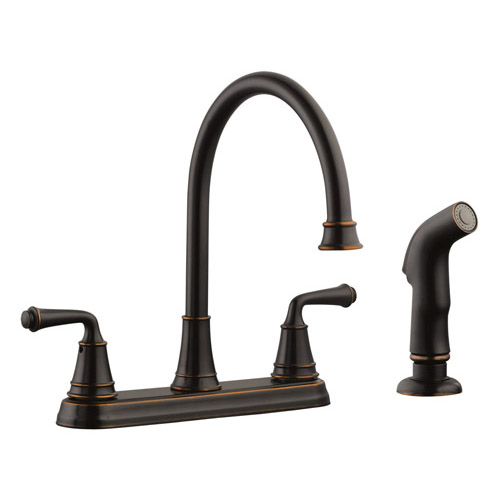 Design House Eden Kitchen Faucet with Sprayer, Oil Rubbed Bronze Finish - 524736