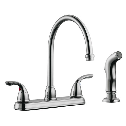 Design House Ashland High Arch Kitchen Faucet with Sprayer, Polished Chrome Finish - 525071