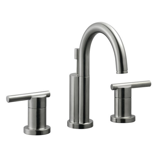Design House Geneva Wide Spread Lavatory Faucet, Satin Nickel Finish - 525733