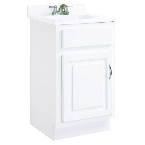 Design House Concord White Gloss Vanity Cabinet with 1-Door, 18in x 16in x 30in - 531244