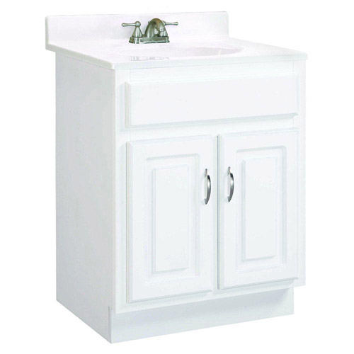 Design House Concord White Gloss Vanity Cabinet with 2-Doors, 30in x 18in x 30in - 531277