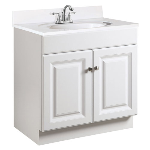 Design House Wyndham White Semi-Gloss Vanity Cabinet with 2-Doors, 24in x 18.5in x 31.5in - 531731