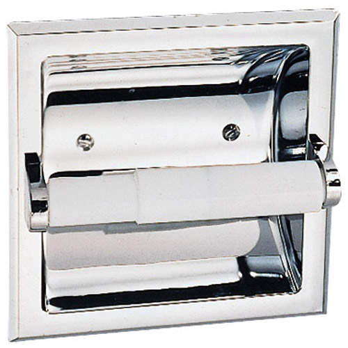 Design House Millbridge Recessed Toilet Paper Holder, Polished Chrome Finish - 533125