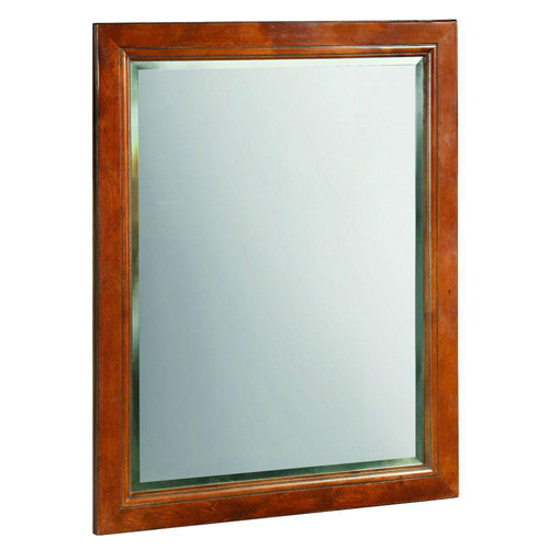 Design House Montclair Chestnut Glaze Wall Mirror with Solid Maple Frames, 24in x 30in - 539577