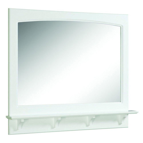 Design House Concord White Gloss Mirror with Shelf, 37.8in x 4in x 31in - 539940