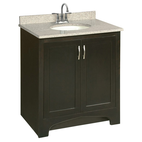 Design House Ventura Espresso Vanity Cabinet with 2-Doors, 30in x 21in - 541250