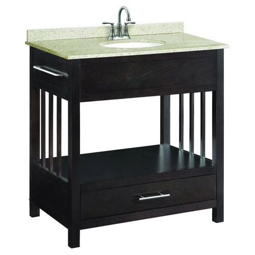 Design House Ventura Espresso Console Vanity Cabinet with 1-Drawer, 30in x 33.5in - 541672