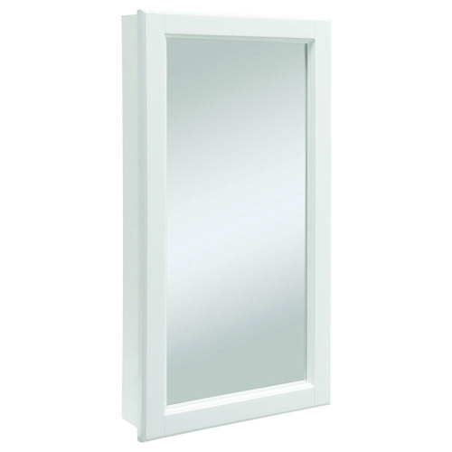 Design House Wyndham White Semi-Gloss Medicine Cabinet Mirror with 1-Door and 2-Shelves, 16in x 4.75in x 30in - 545111