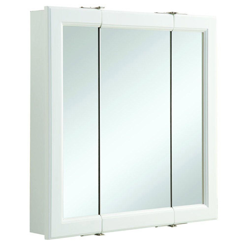 Design House 545129 Wyndham White Semi Gloss Tri View Medicine