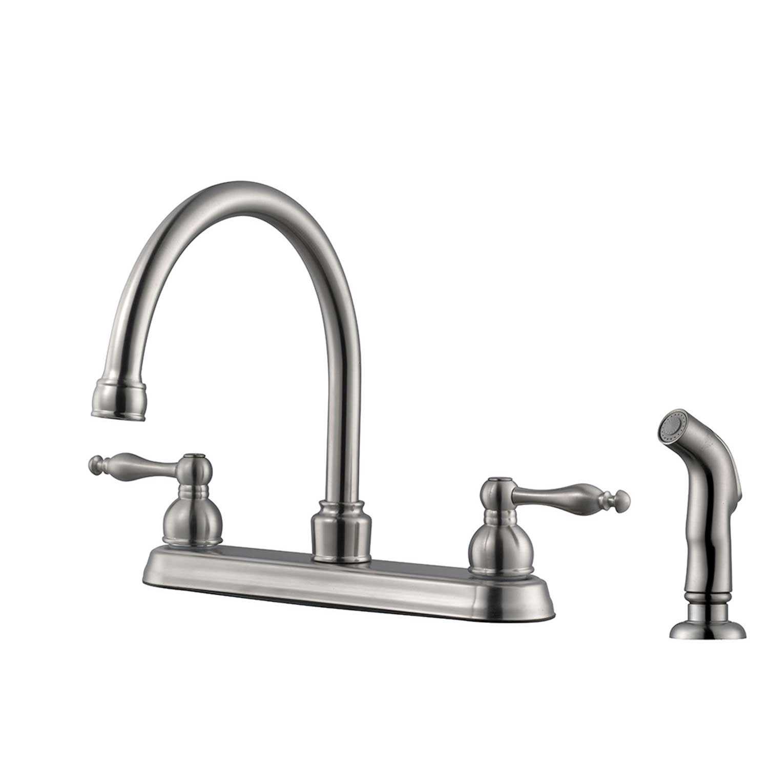 Design House Saratoga Kitchen Faucet with Side Sprayer, Satin Nickel - 546119