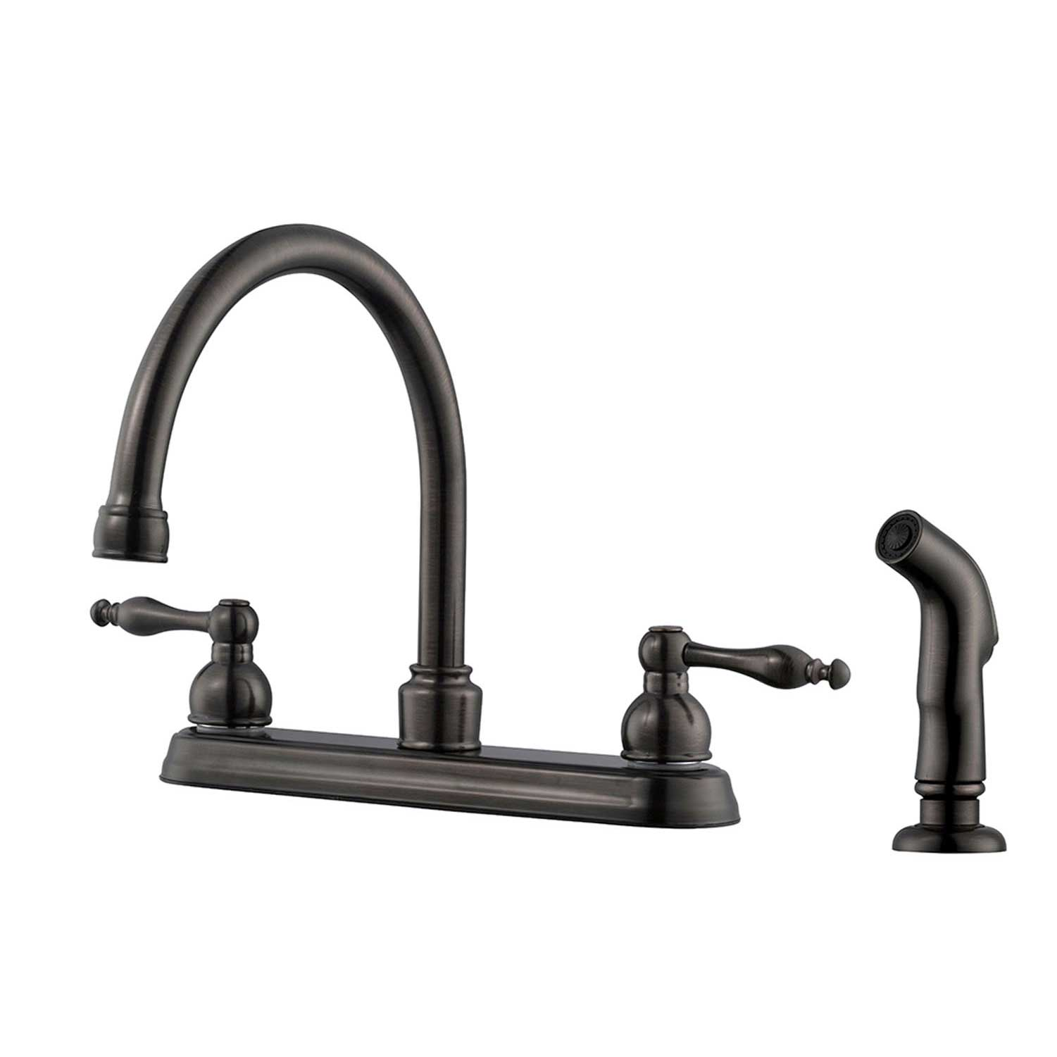 Design House Saratoga Kitchen Faucet with Side Sprayer, Brushed Bronze - 546127