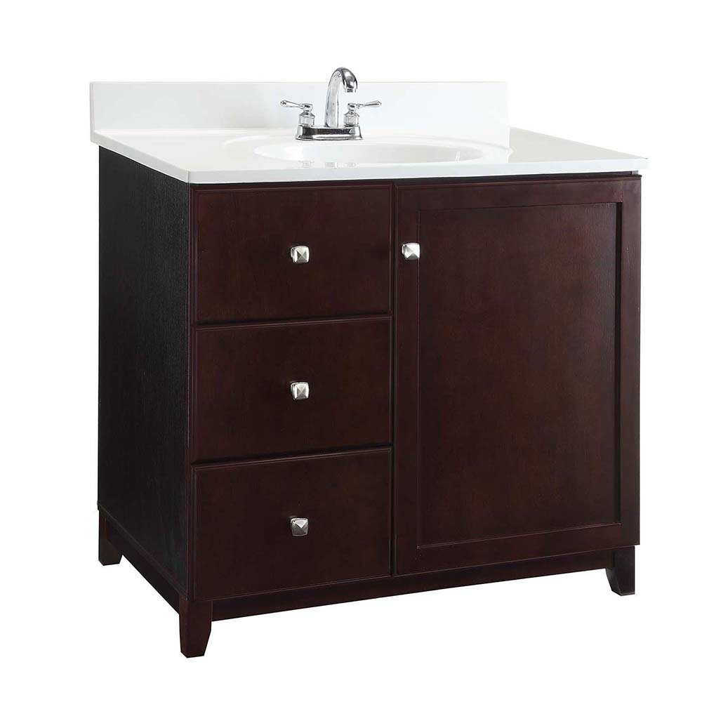 Design House Furniture-Style Vanity Cabinet, 30-inches by 21-inches, Espresso - 547018