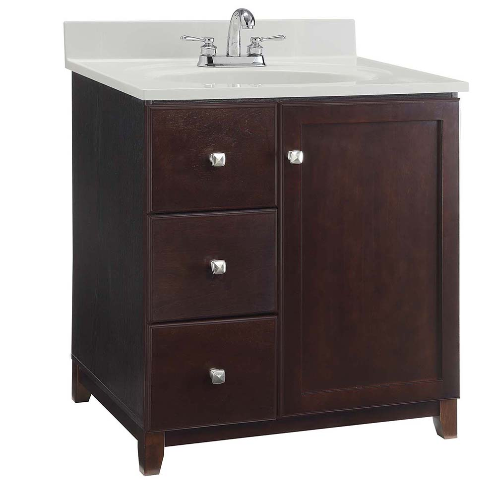Design House Furniture-Style Vanity Cabinet, 36-inches by 21-inches, Espresso - 547026