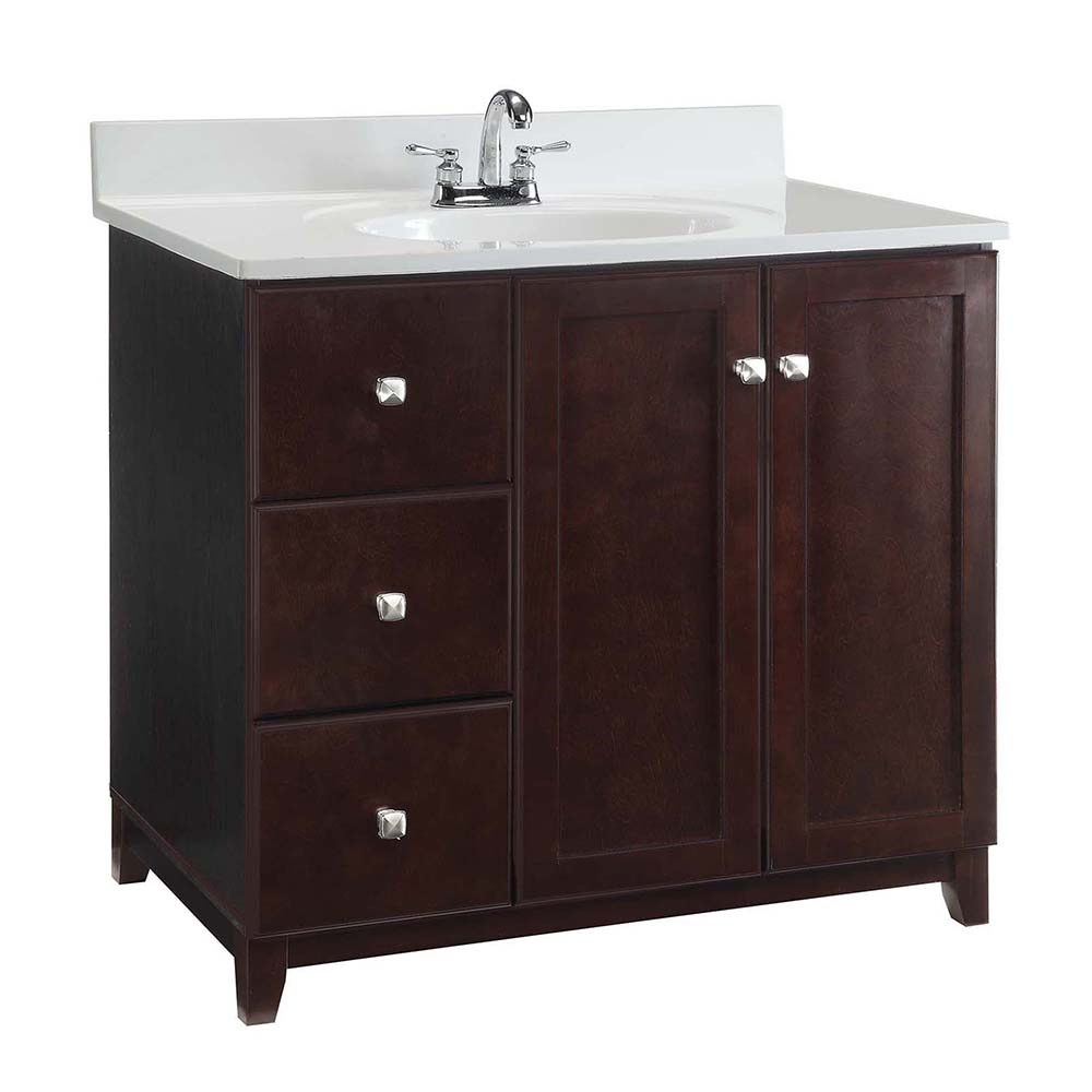 Design House Furniture-Style Vanity Cabinet, 36-inches by 21-inches, Espresso - 547034