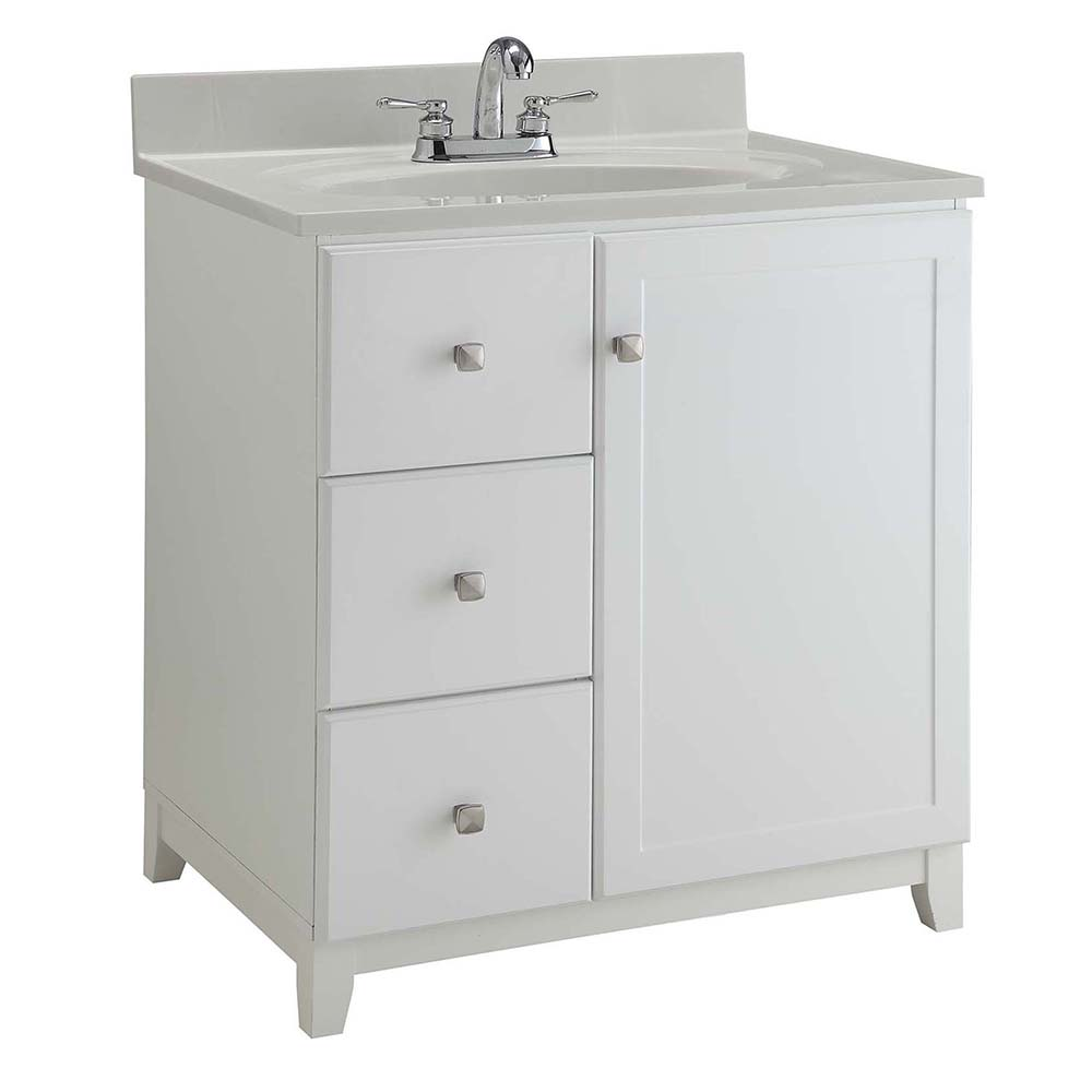 Design House Furniture-Style Vanity Cabinet, 36-inches by 21-inches, Semi-Gloss White - 547158