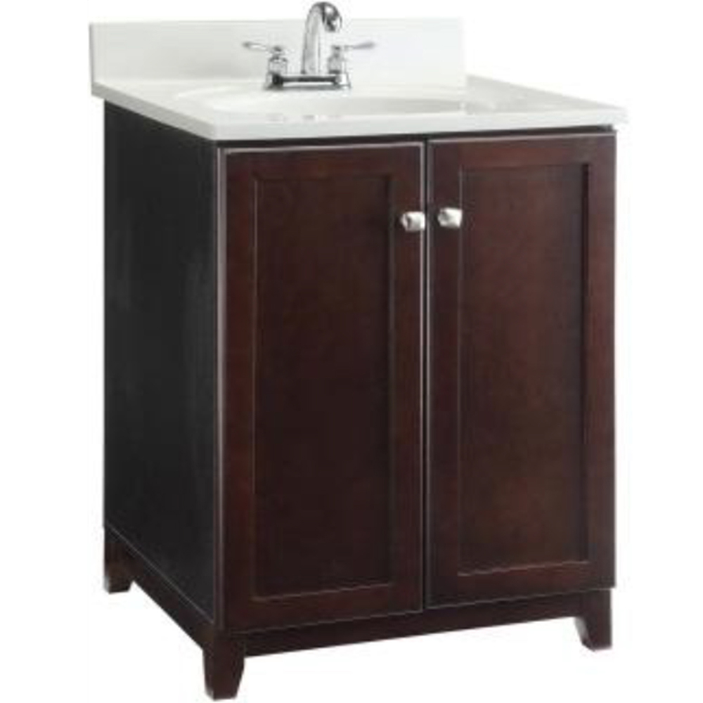 Design House Furniture-Style Vanity Cabinet, 24-inches by 21-inches, Espresso - 547257