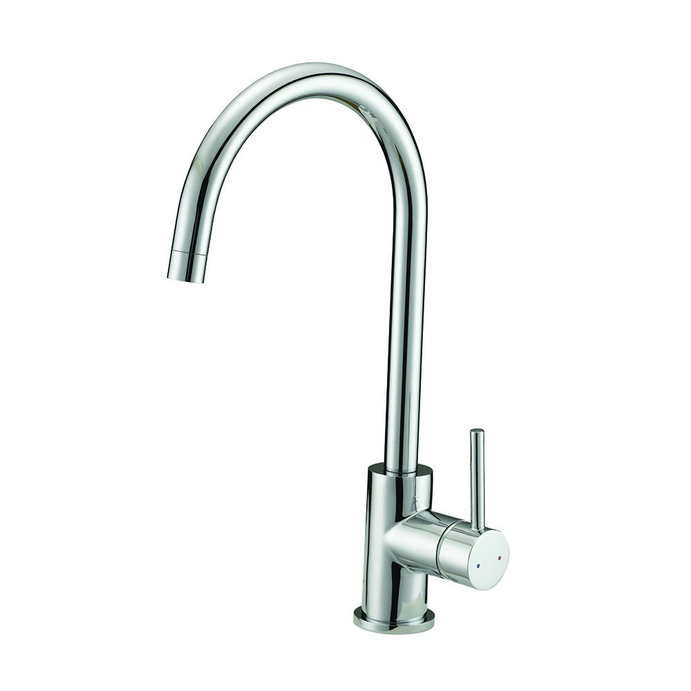 Design House Eastport Single Handle Kitchen Faucet, Polished Chrome Finish    547695