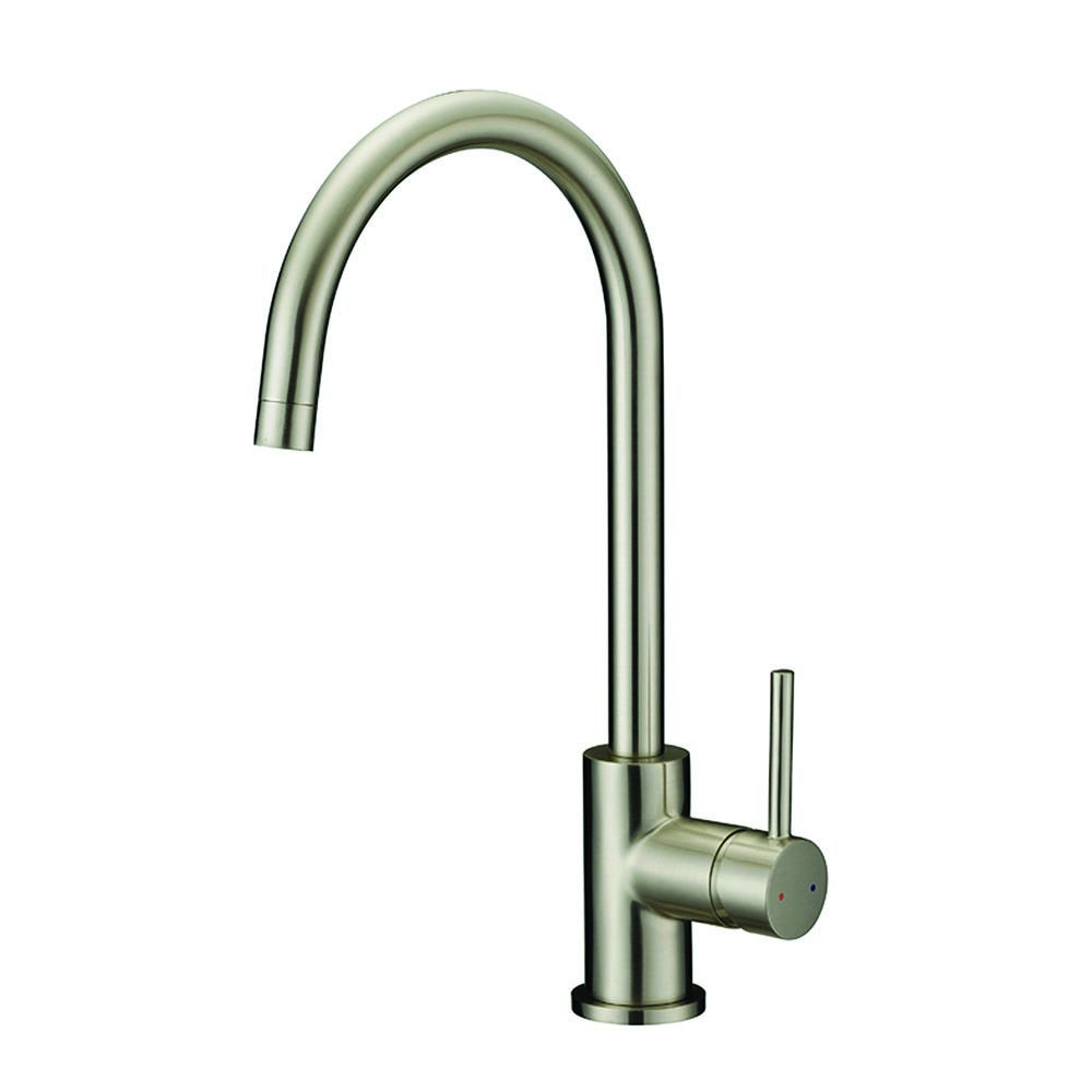 Design House Eastport Single Handle Kitchen Faucet, Satin Nickel Finish - 547737