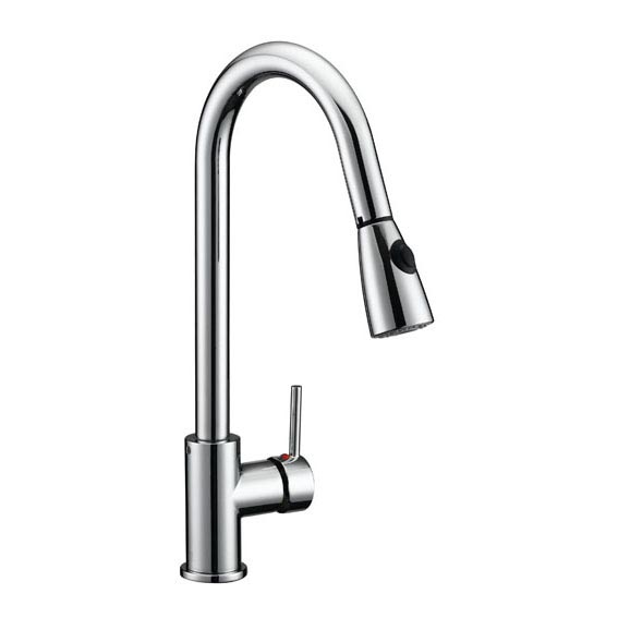 Design House Eastport Single Handle Pull Down Kitchen Faucet, Polished Chrome Finish - 547869