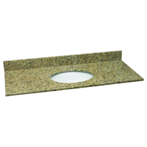 Design House Single Bowl Granite Vanity Top, 49inch by 22inch, Venetian Gold - 552430