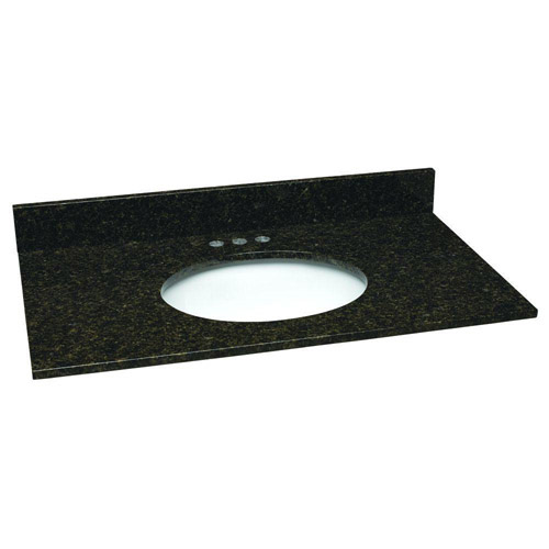 Design House Single Blow Granite Vanity Top, 31inch by 22inch, Ubatuba  - 552539