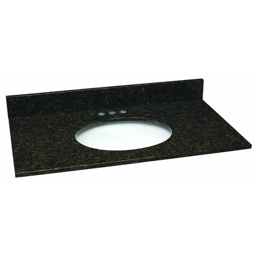 Design House Single Bowl Granite Vanity Top, 37inch by 22inch, Ubatuba  - 552547