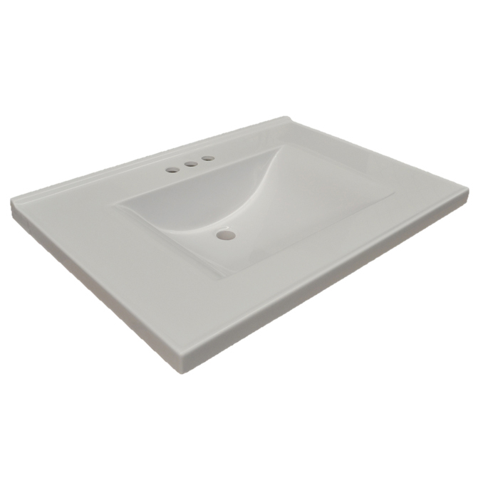 Design House Contempo Vanity Top, 25-inches by 22-inches, Solid White - 553933