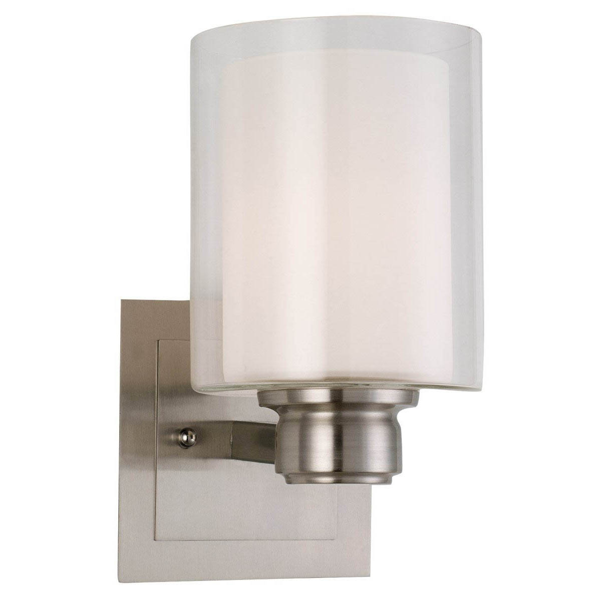Design House Oslo 1 Light Indoor Wall Mount in Satin Nickel - 556134