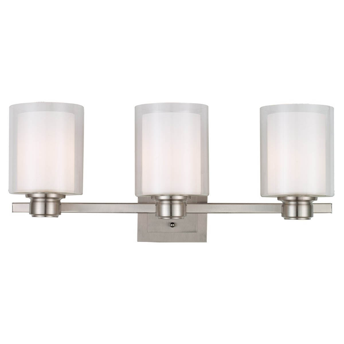 Design House Oslo 3 Light Indoor Wall Mount in Satin Nickel - 556159
