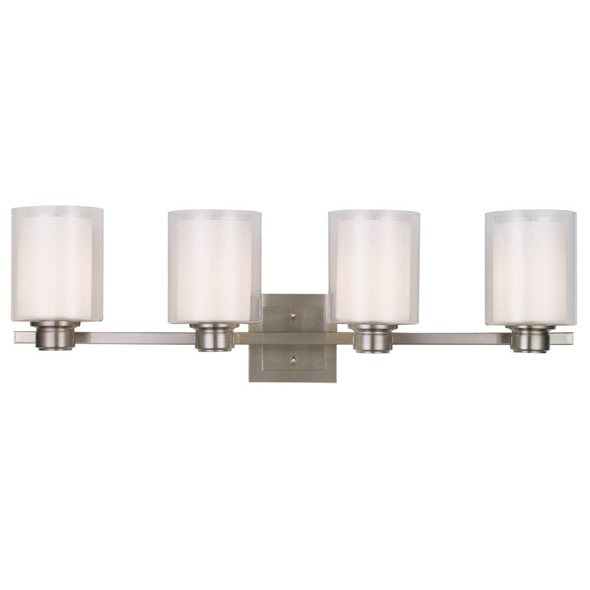 Design House Oslo 4 Light Indoor Wall Mount in Satin Nickel - 556167