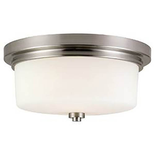 Design House Aubrey 2 Light Indoor Flushmount in Satin Nickel - 556654