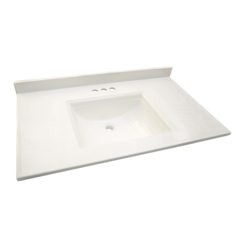 Design House Camilla Vanity Top, 25-inches by 22-inches, Solid White - 557652