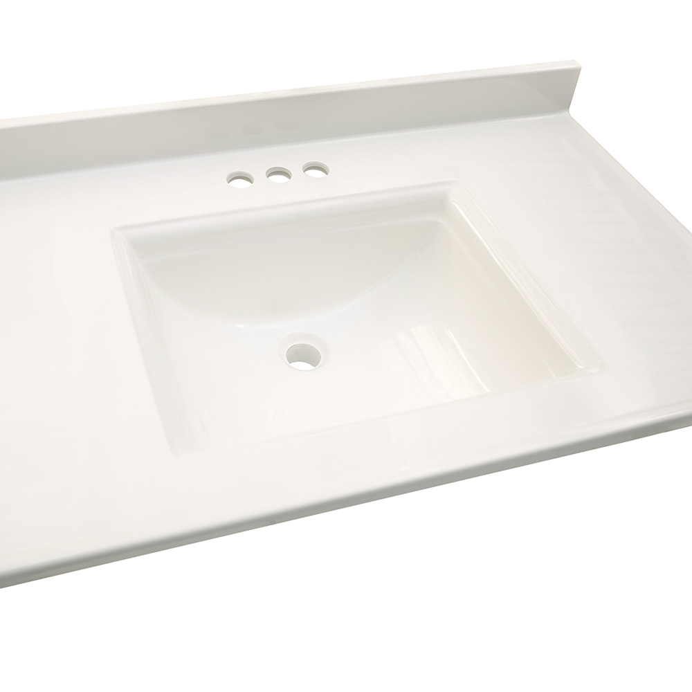 Design House Camilla Center Vanity Top, 61-inches by 22-inches, Solid White - 557660