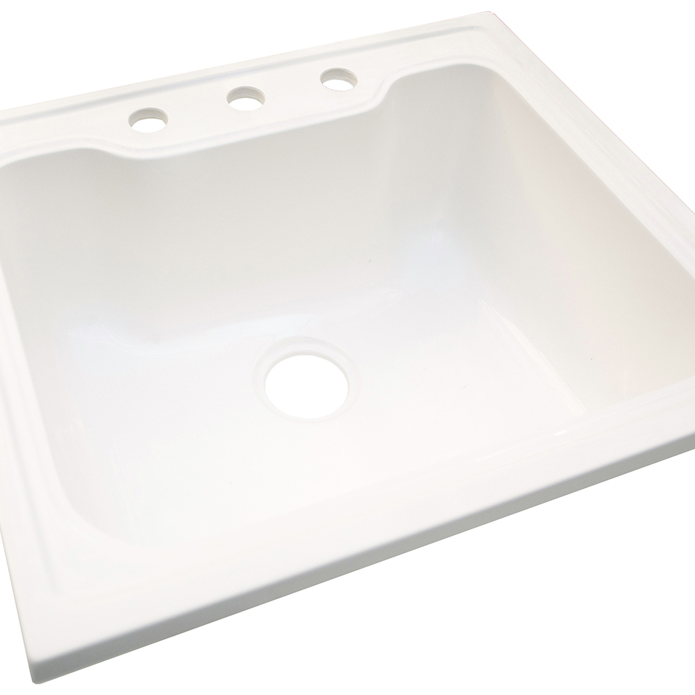 Design House Laundry Sink, 25-inches by 22-inches, Solid White - 557686