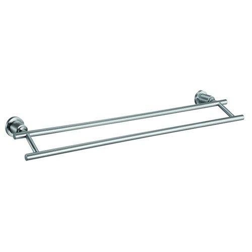 Design House Geneva 24inch Double Towel Bar, Satin Nickel Finish - 560326