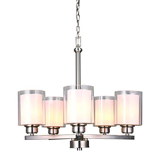 Design House Oslo 5 Light Chandelier Brushed Nickel - 567198