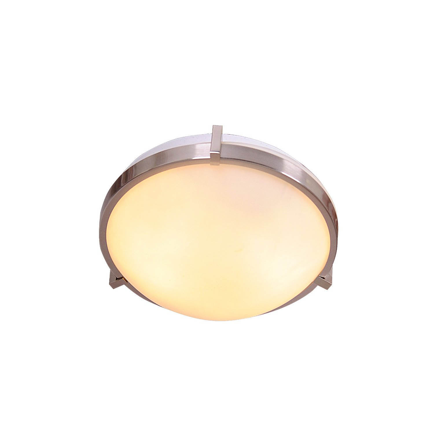 Design House Eastport 2 Light 13' Indoor Ceiling Mount in Satin Nickel - 570937